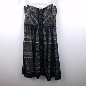 Moulinette Soeurs sz 4 Black Lace Dress Boho